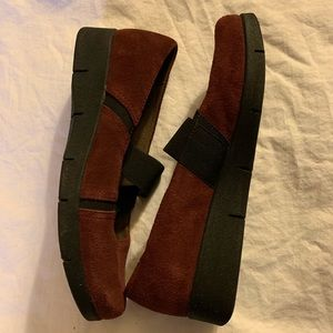 Natural soul slip on suede leather comfort shoes